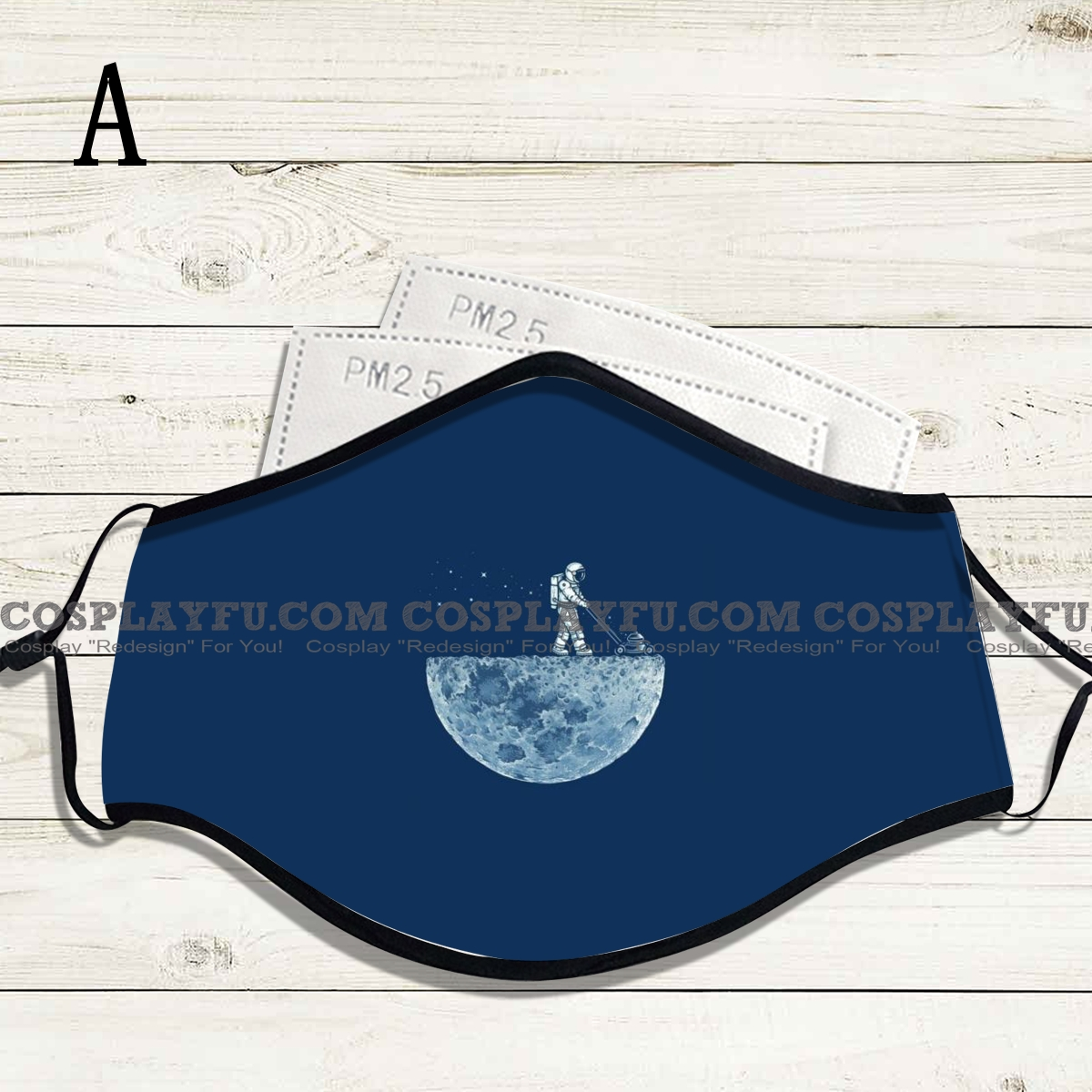 Reusable Washable Adjustable Adult Kids Face Mask • Moon • Cotton • Lovely with Filter Pocket Nose Wire
