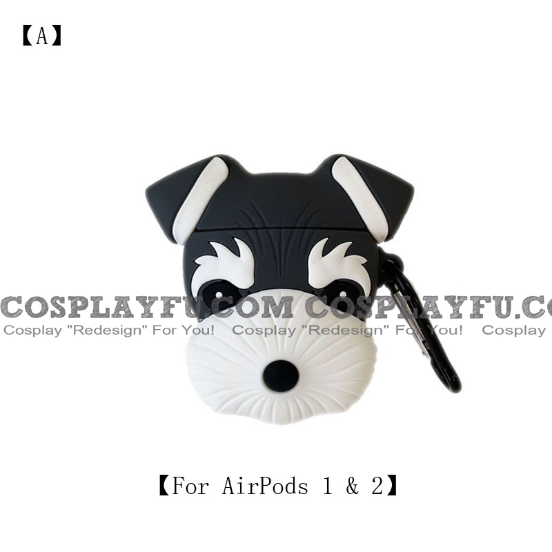 Lovely Dog Schnauzer | Airpod Case | Silicone Case for Apple AirPods 1, 2, Pro (81738)