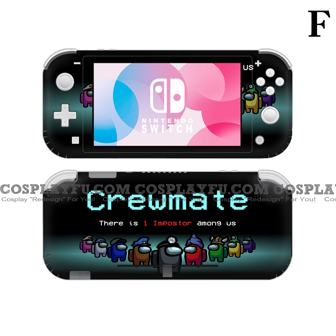 Lite Skin Among Us Gamer - Nintendo Switch Lite Decal NS Skin Sticker
