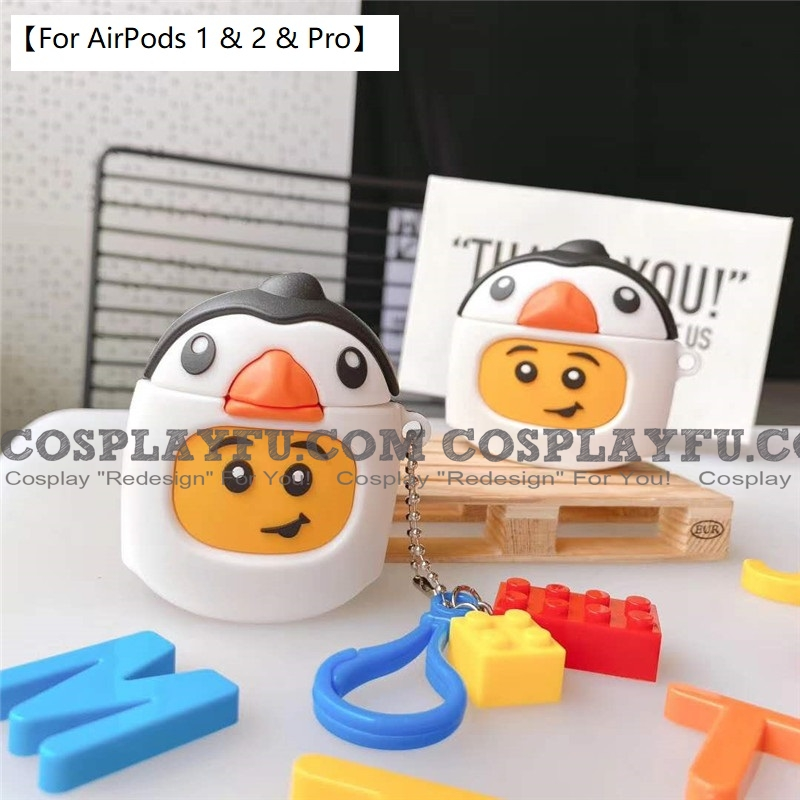 Lovely LEGO Penguin | Airpod Case | Silicone Case for Apple AirPods 1, 2, Pro Cosplay (81772)