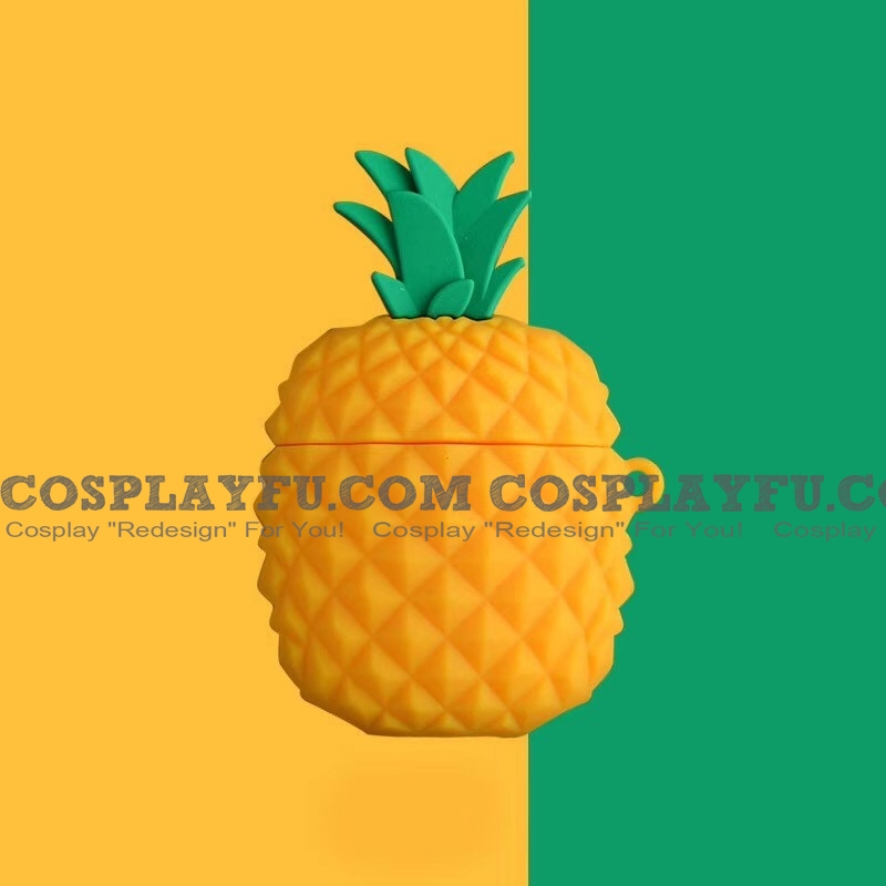 Lovely Pineapple Fruit | Airpod Case | Silicone Case for Apple AirPods 1, 2, Pro Cosplay (81774)