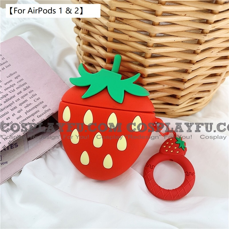 Lovely Fresa Fruit | Airpod Case | Silicone Case for Apple AirPods 1, 2, Pro Cosplay (81776)