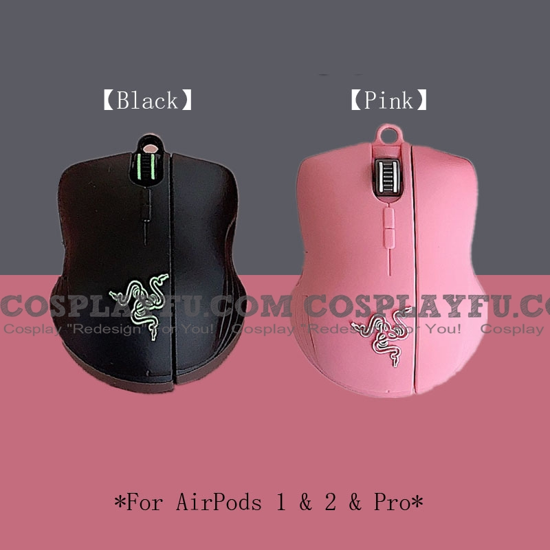 Lovely Razer Mouse | Airpod Case | Silicone Case for Apple AirPods 1, 2, Pro Cosplay (81798)
