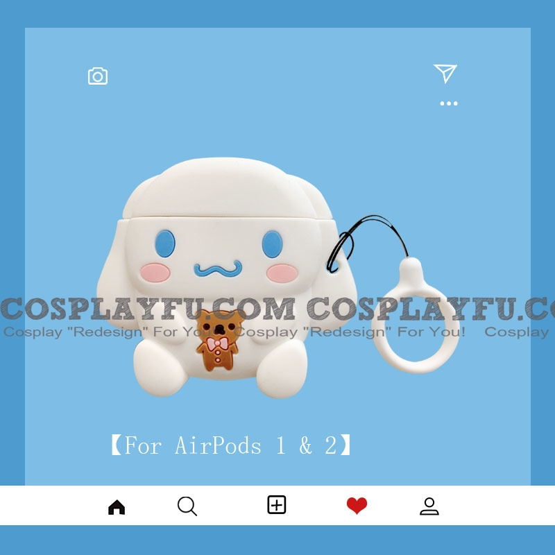 Lovely Cinnamoroll | Airpod Case | Silicone Case for Apple AirPods 1, 2, Pro Cosplay (81802)