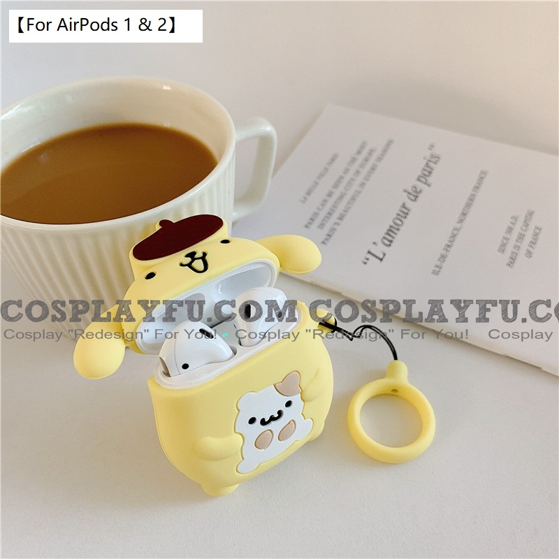 Lovely Pom Pom Purin | Airpod Case | Silicone Case for Apple AirPods 1, 2, Pro Cosplay (81804)