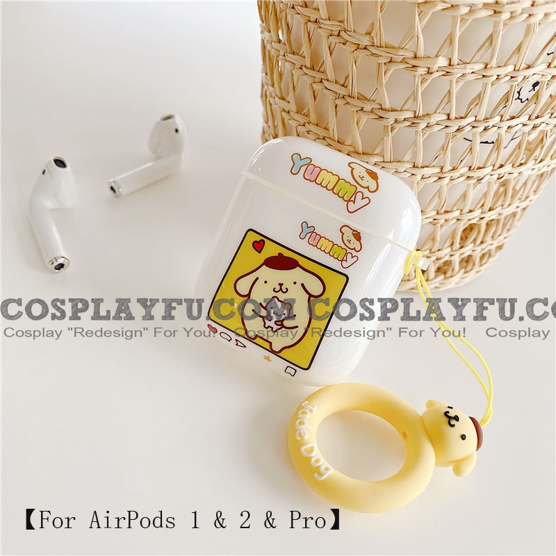 Lovely Pom Pom Purin | Airpod Case | Silicone Case for Apple AirPods 1, 2, Pro Cosplay (81809)