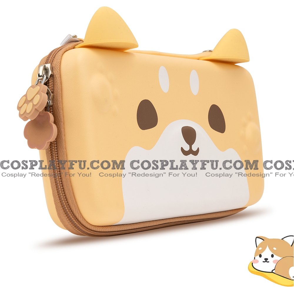 Brown Shiba Nintendo Switch Carrying Case - 10 Game Cards Holding