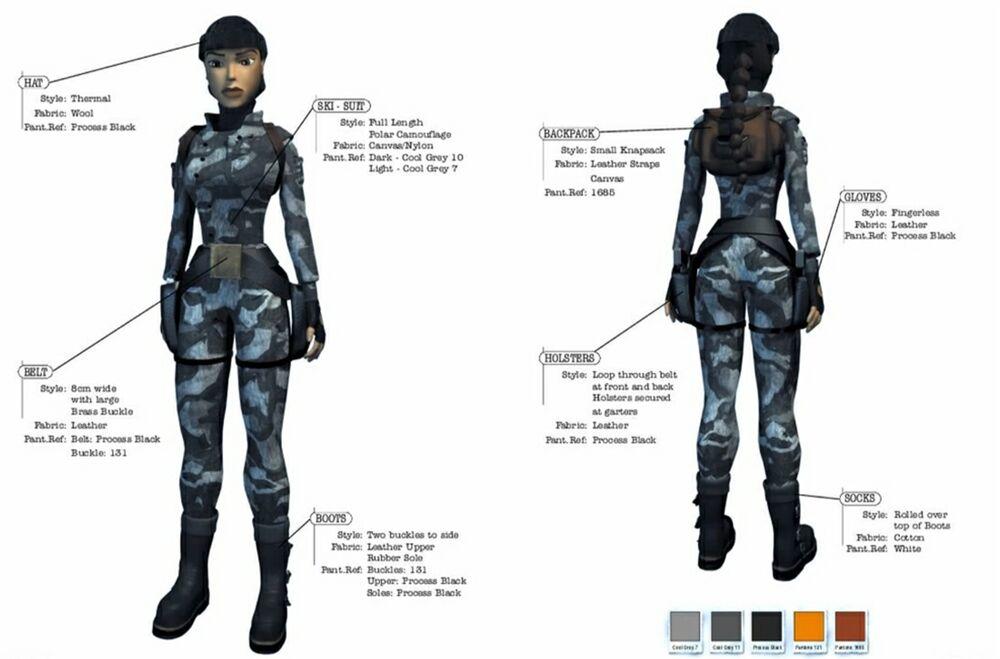 Tomb Raider Lara Croft Costume (Russian Camouflage)