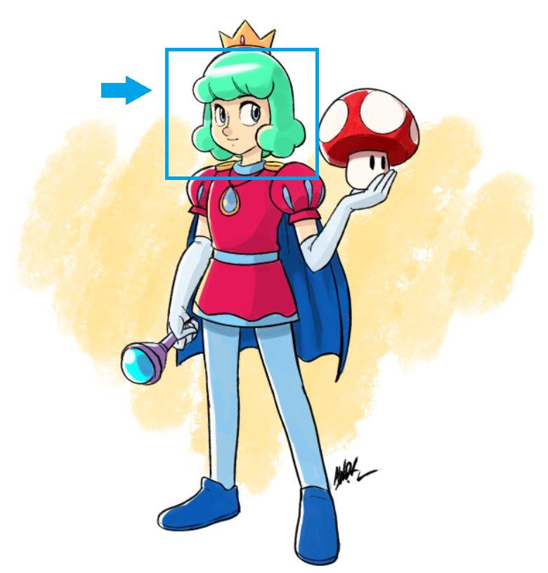 Prince Haru Wig from Super Mario Bros