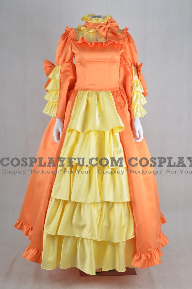 Elizabeth Cosplay Costume (Orange Dress) from Kuroshitsuji