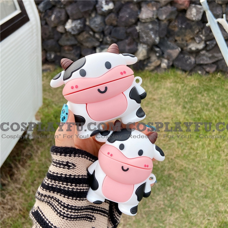 Lovely Cow Airpod Case | Silicone Case for Apple AirPods 1, 2, Pro 코스프레