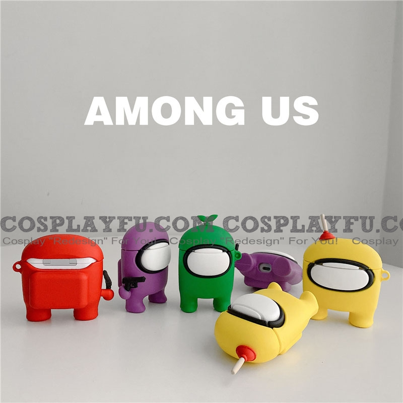 Lovely Colore Among Us Airpod Case | Silicone Case for Apple AirPods 1, 2 e Pro Cosplay