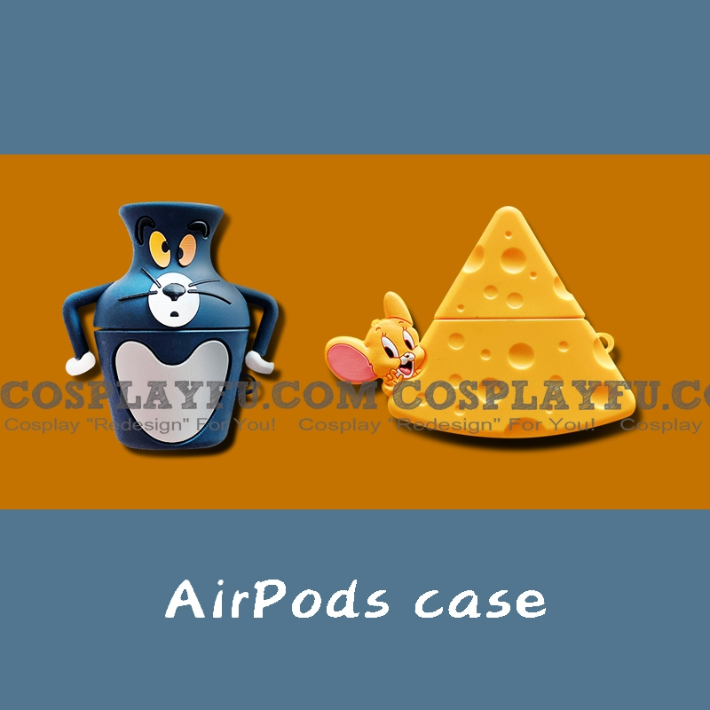 Lovely Tom と Jerry Airpod Case | Silicone Case for Apple AirPods 1, 2 と Pro コスプレ