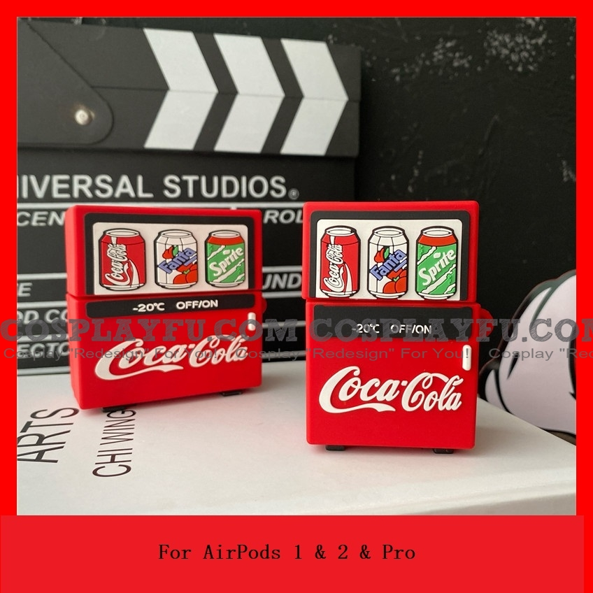 Lovely Coca Cola vending machine Airpod Case | Silicone Case for Apple AirPods 1, 2 e Pro Cosplay