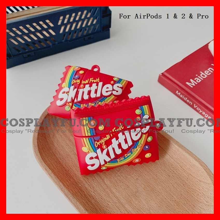 Lovely Rosso Skittles Caramella Airpod Case | Silicone Case for Apple AirPods 1, 2 e Pro Cosplay