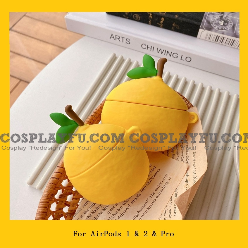Lovely Gelb Zitrone Fruit Airpod Case | Silicone Case for Apple AirPods 1, 2 und Pro Cosplay