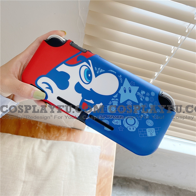 Red Blue Mario Switch and Lite Shell Protection Cover