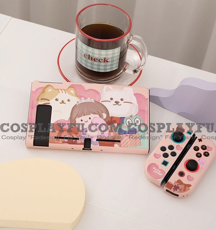 Pink Princess Girl Switch and Lite Shell Protection Cover