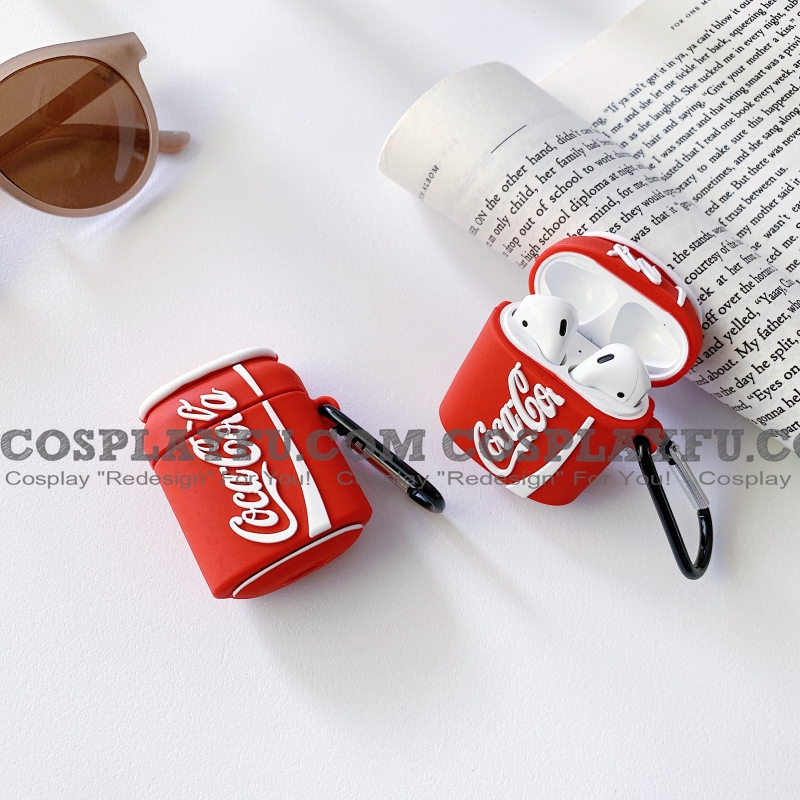 Lovely Cola Airpod Case | Silicone Case for Apple AirPods 1 e 2 only Cosplay