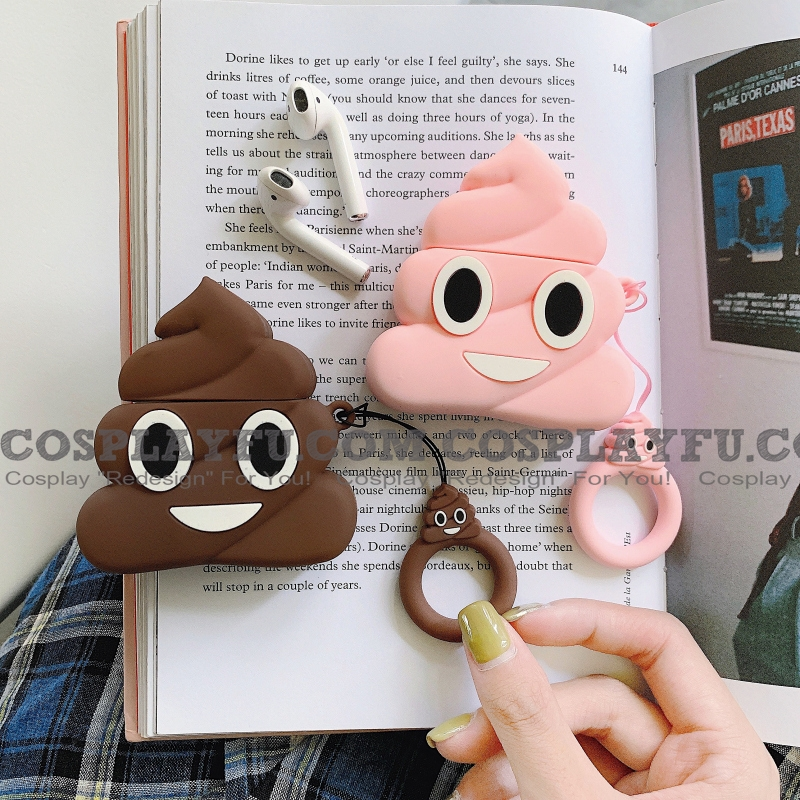 Funny Poo Poo Airpods Case | Silicone Case for Apple AirPods 1 und 2 only Cosplay