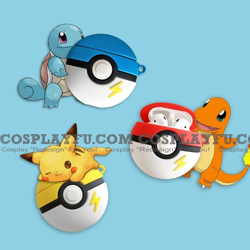 Lovely Pokemon Balls Red Yellow Blue Airpods Case | Silicone Case for Apple AirPods 1 and 2 only