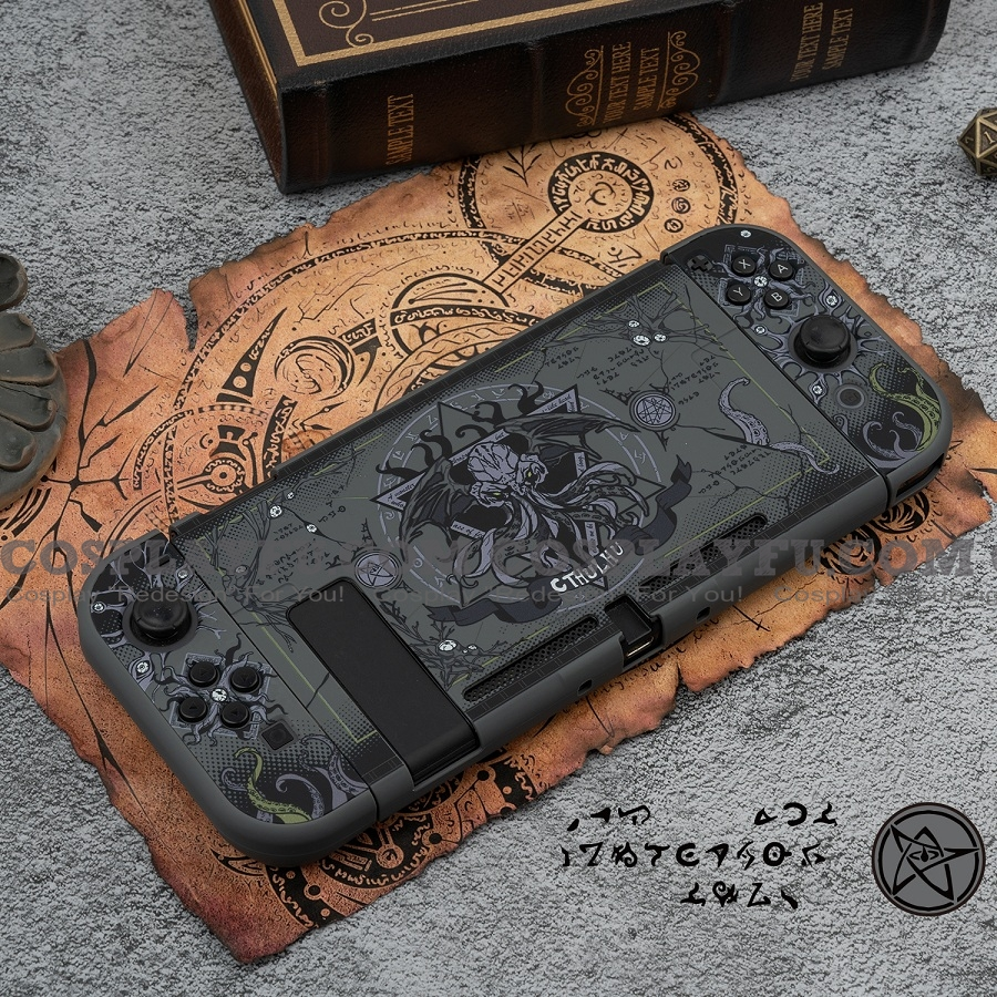 Black Cthulhu Switch Shell Protection Cover