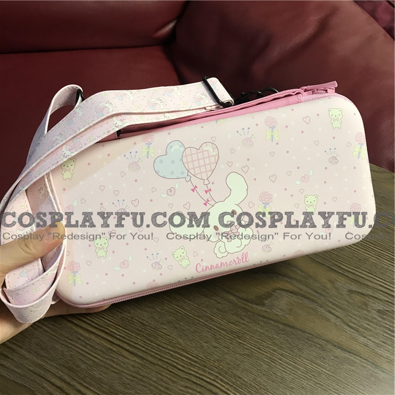 Cute Cartoon Pink Cinnamoroll Melody Nintendo Switch Carrying Case - 12 Game Cards Holding