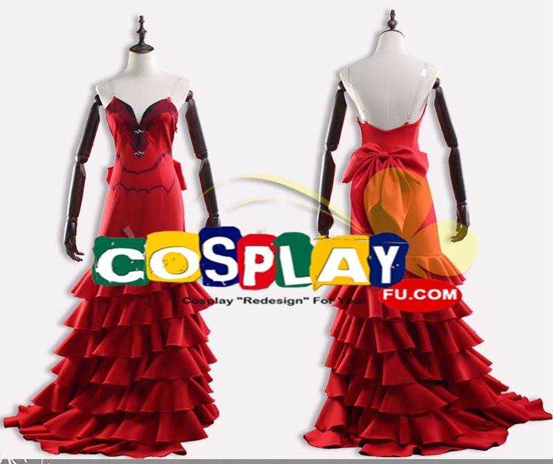 Aerith Cosplay Costume (Red) from Final Fantasy VII Remake