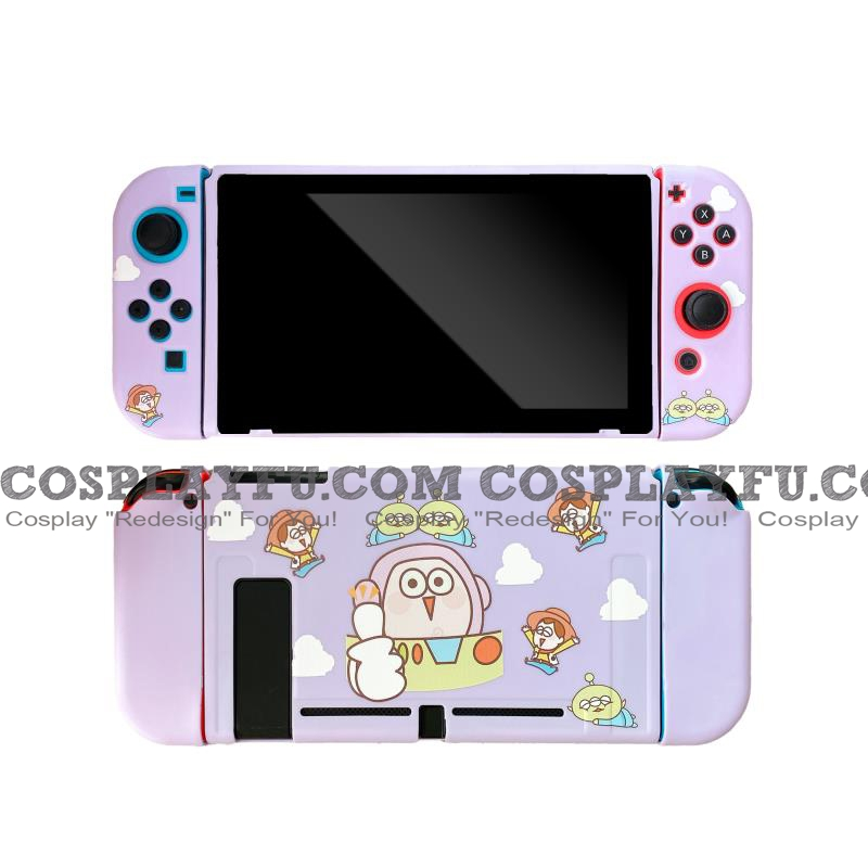Purple Buzz Toys Story Switch Shell Protection Cover TPU