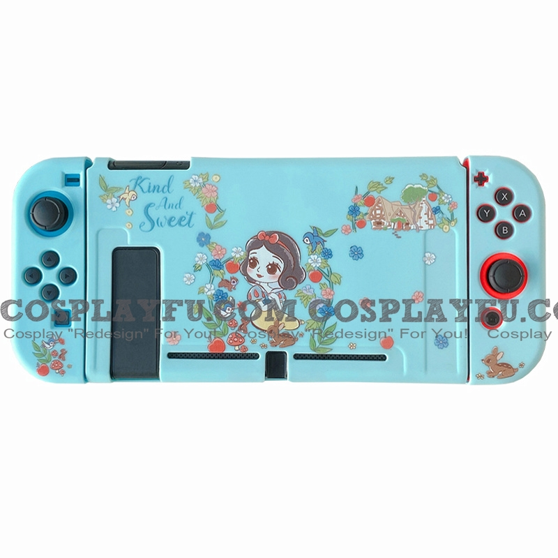 Blue Snow White Switch Shell Protection Cover TPU