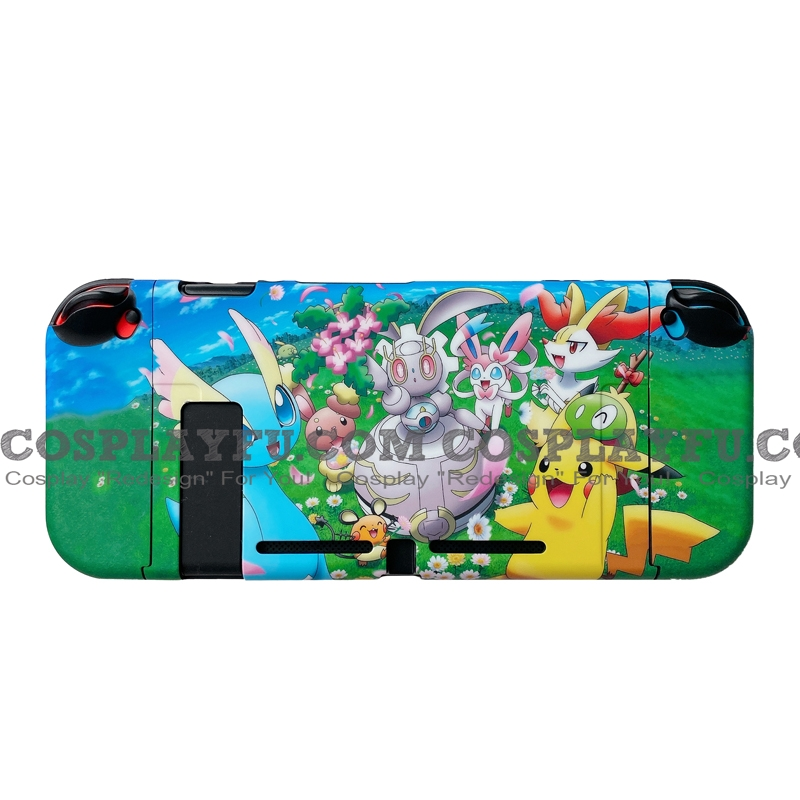 Green Blue Pokemon Family Switch Shell Protection Cover TPU