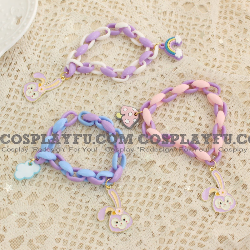 Cute Purple Stellalou Acrylic Bracelet