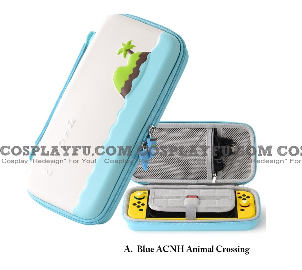 Cute Blue Animal Collection ACNH Pink Cat Paw Nintendo Switch Carrying Case - 10 Game Cards Holding