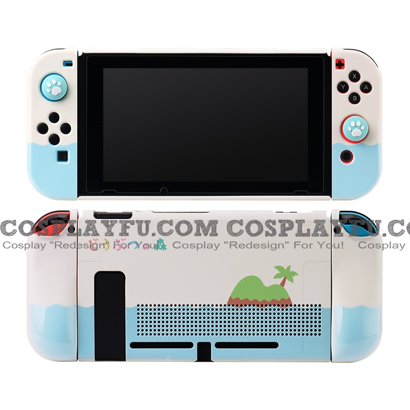 Soft White Blue Animal Crossing ACNH Switch Shell Protection Cover TPU