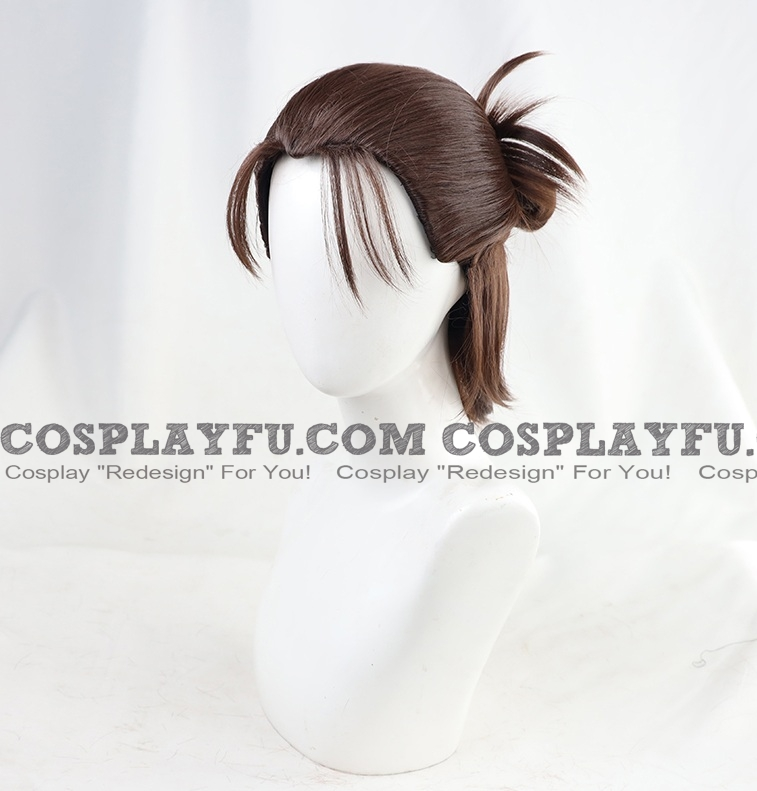 Eren Wig (Final, 3rd, Short Brown, Pony Tail) from Attack On Titan