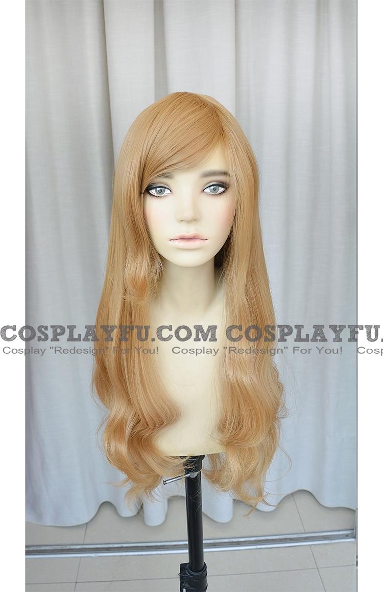 Momiji Wig (Long Curly Brown) from Binbo-gami ga!