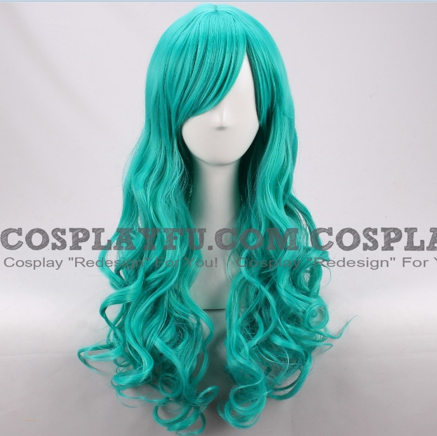 Sailor Neptune Cosplay Costume Wig (Long Curly Green Blue) from Sailor Moon