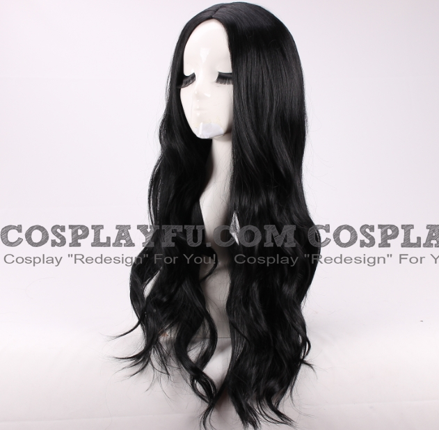 Lady Loki Cosplay Costume Wig (Female, Long Curly Black) from The Avengers