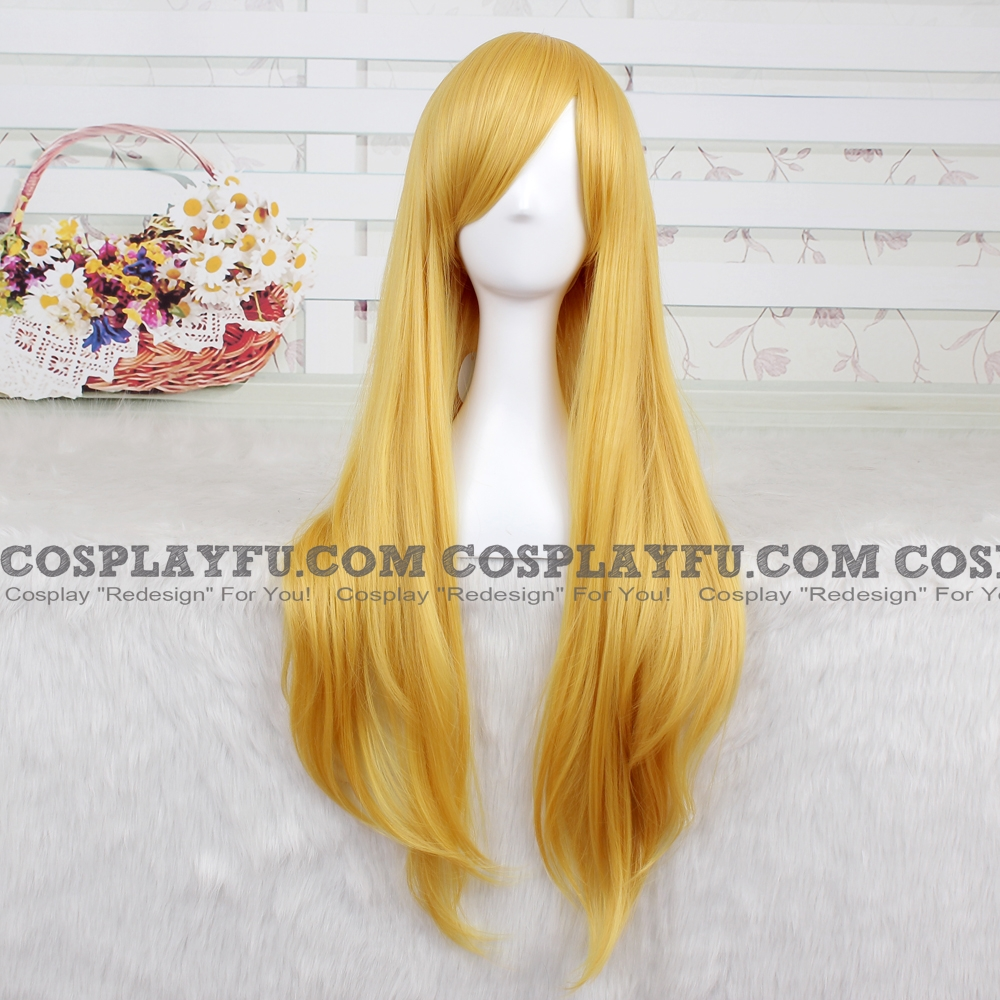 Sailor Venus Cosplay Costume Wig (Long Straight Yellow) from Sailor Moon