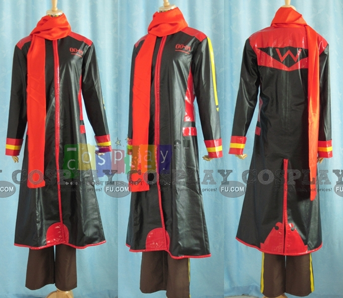 Akaito Cosplay Costume (Red,Black) from Vocaloid