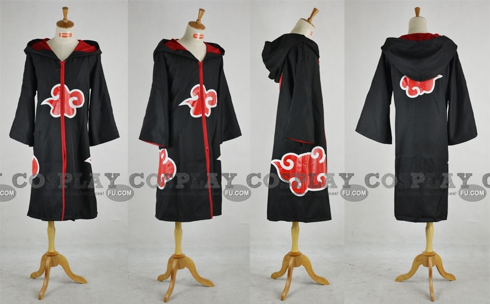 Akatsuki Cosplay Costume (with Hood 1-582) from Naruto Shippuuden