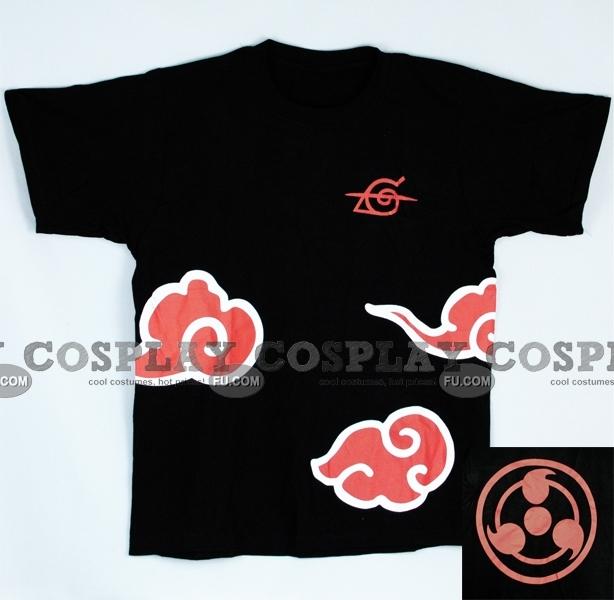 Akatsuki De  Naruto t shirt (Black 04)