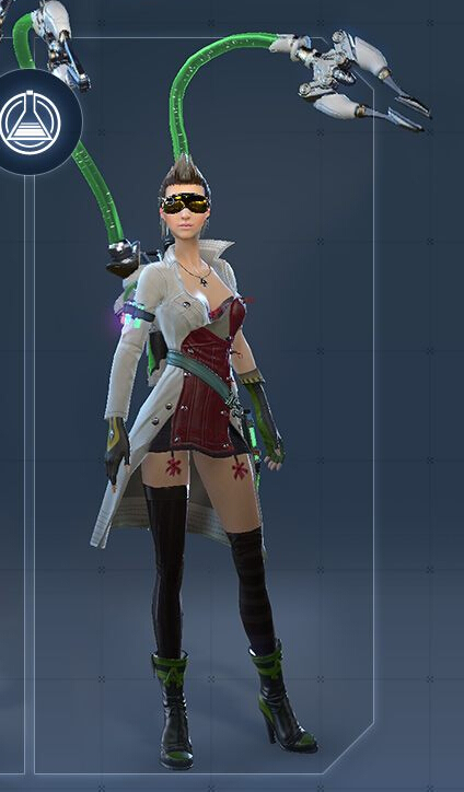 Alchemist Female Cosplay Costume from Skyforge