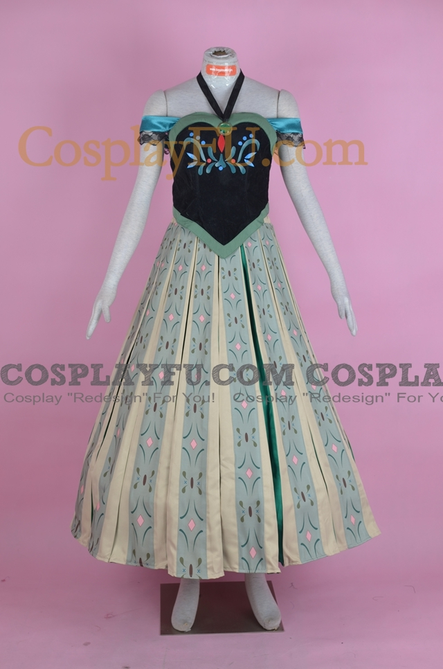 Anna Cosplay Costume (Party Dress) from Frozen