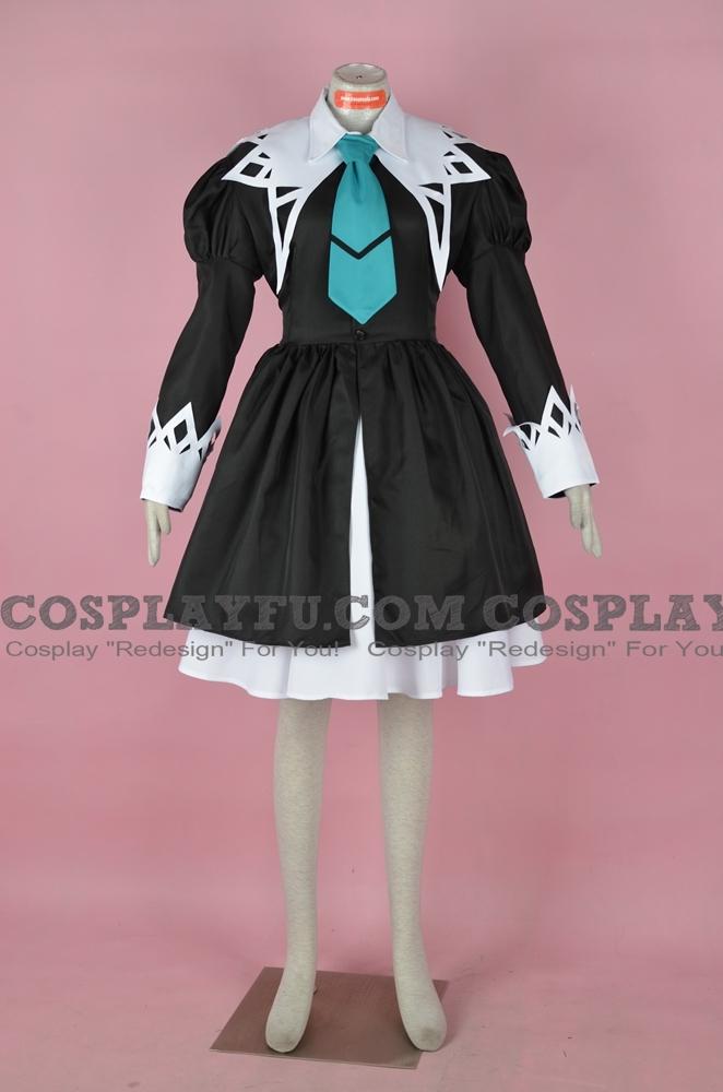 Aoi Cosplay Costume (Miator Uniform Black, 2nd) from Strawberry Panic