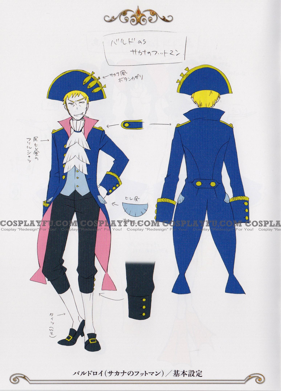 Baldroy Cosplay Costume (Wonderland) from Kuroshitsuji