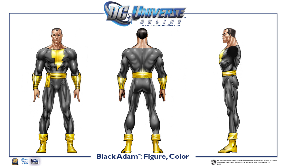 Black Adam Cosplay Costume from Injustice: Gods Among Us