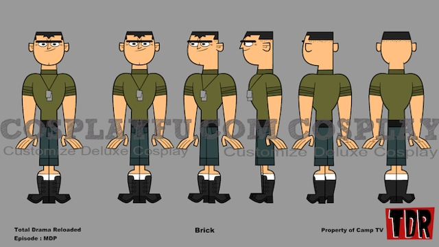 Brick Cosplay Costume from Total Drama