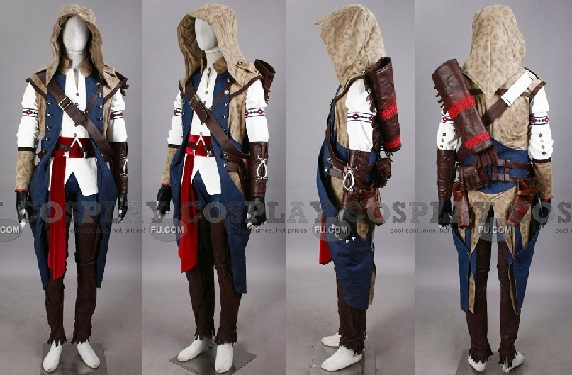 Custom Connor Cosplay Costume 155 C04 From Assassins Creed
