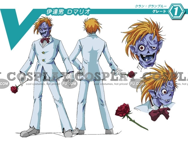 Dandy Guy Romario Cosplay Costume from Cardfight Vanguard
